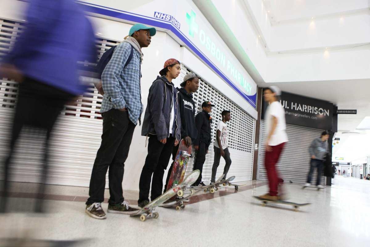 Skaters, Stratford, Stratford Centre, community, Shopping Mall, youth, kids, London