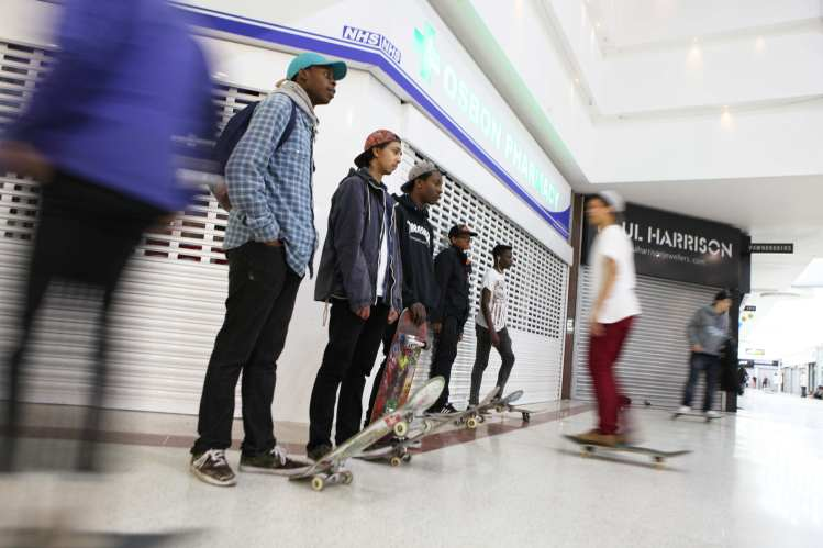 Skaters, Stratford, Stratford Centre, community, Shopping Mall, youth, kids, London