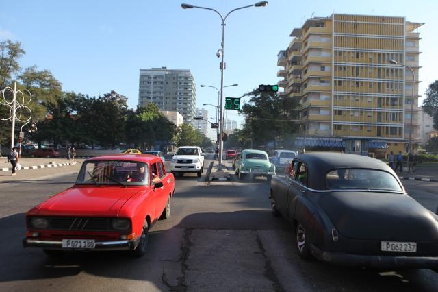 cars, Lada, Cuba, red, Havana