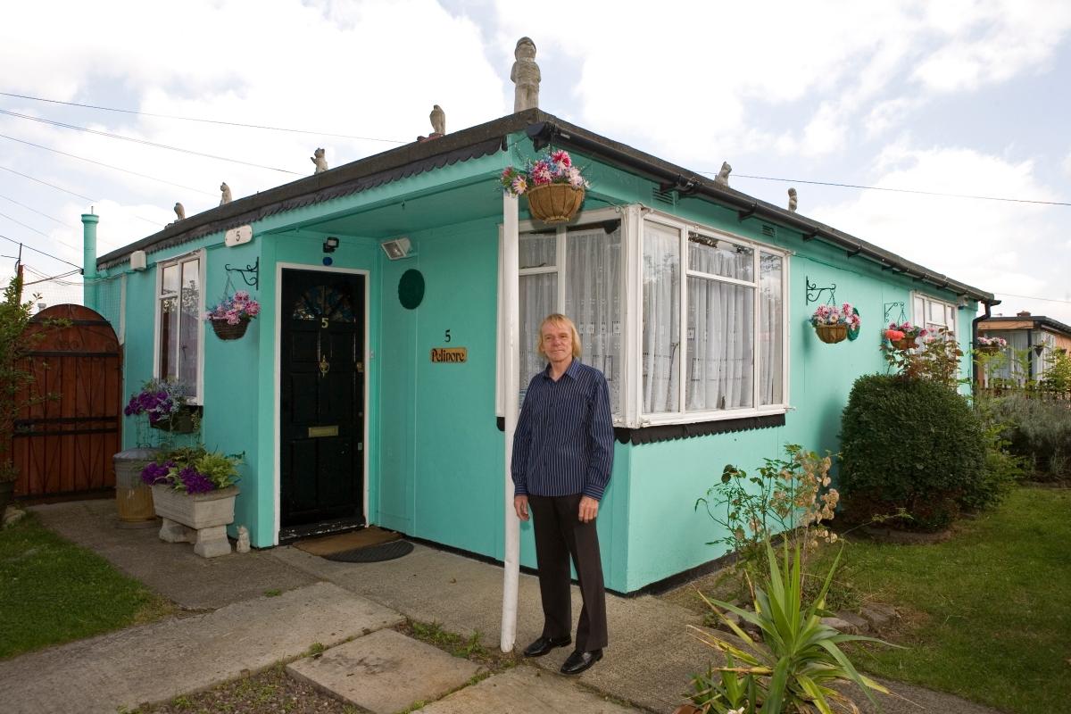 Prefabs, Catford, Excalibur Estate, Lewisham, post-war, housing, London, UK, Jim Blackender