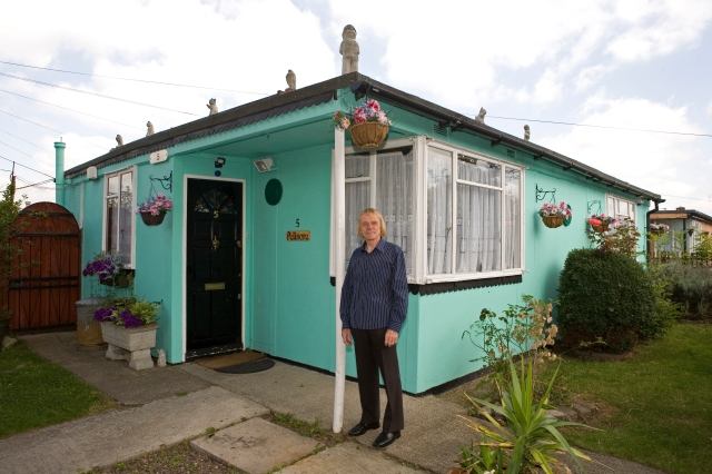 Prefabs, Catford, Excalibur Estate, Lewisham, post-war, housing, London, UK, Jim Blackender