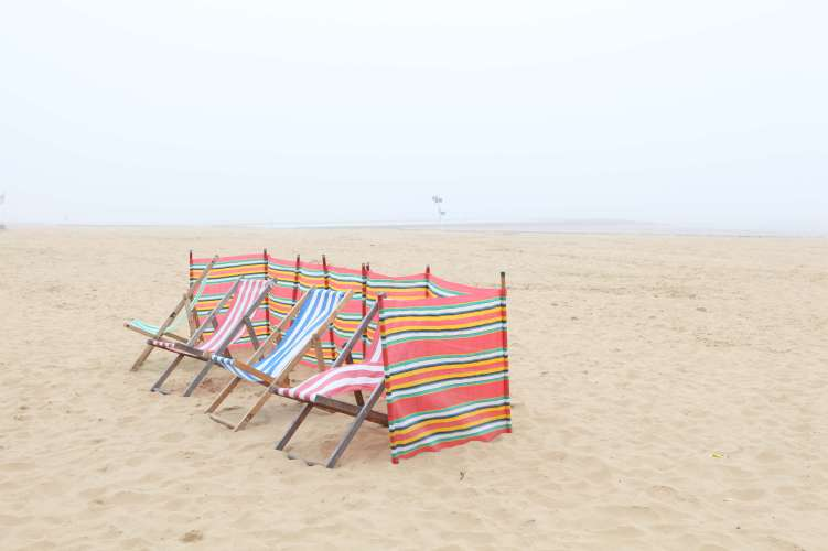 Margate, deck chairs, sand, beach, sea