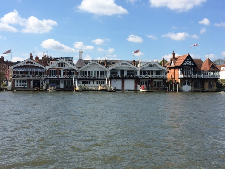 Henley, houses, Thames, boats, regatta, Spring