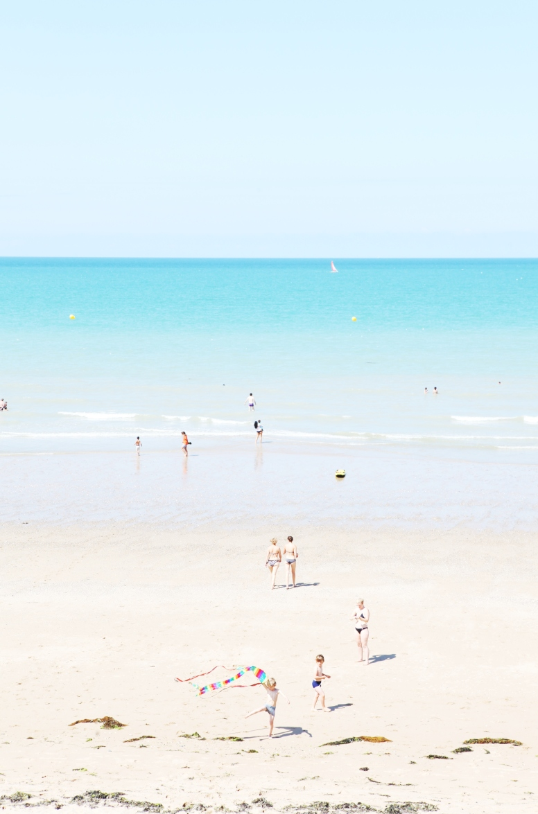 Beach, sea, Jullouville, Normandy