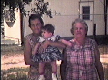 "The names of the two women from left to right are Rose ""Goodin"" Gorman and Mamie ""Doll"" O'Hara, early 70s"